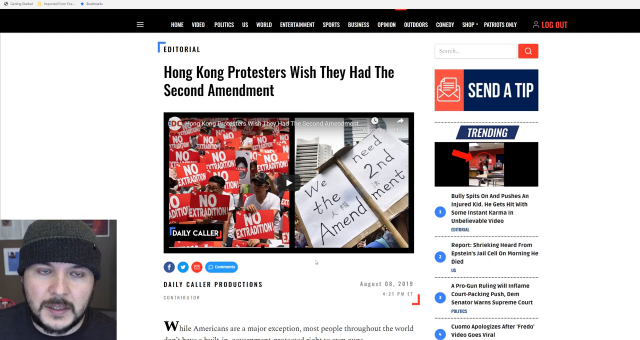 Hong Kong Protesters Fly US Flag, Sing Our Anthem, While We Complain About Chris Cuomo.mp4